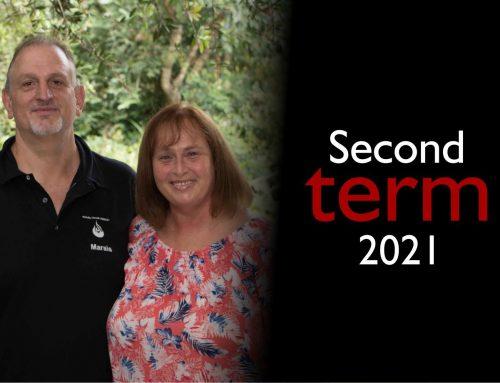 Marais and Linda Second Term Newsletter